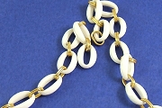 10 inches VintageOval and Golden Lucite Chain
