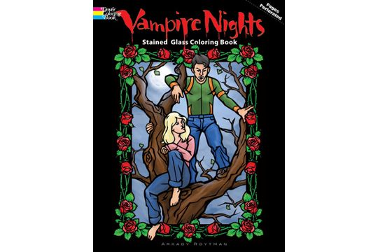 Vampire Nights Stained Glass Coloring Book