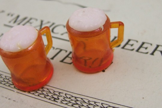 Vintage Foamy and Frosty Beer Mug Charm
