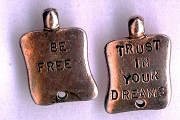 Copper Charm: Trust in Your Dreams - Be Free