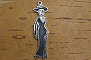 Sterling Silver Catrina Charm Facing East by Designer Maria Belen Nilson