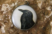 Crow Portrait Charm