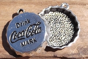 Silvery Drink Coca Cola Bottle Cap Charm or Resin Base