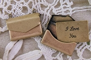 Antiqued Brass Envelope Charm or Pendant that Opens with Love Letter Inside