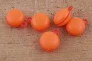 Vintage Mini Plastic Hamburger Charm - Package of 5