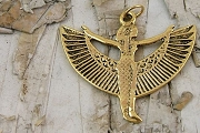 Large Gold Plated Stading ISIS Pendant or Charm