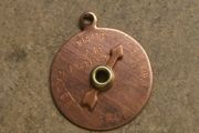 Vintage 1960s Moveable Lie Detector Charm with Spinner (Copper)