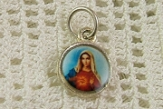 Sterling Silver Sacred Heart of Mary (Madonna) Charm
