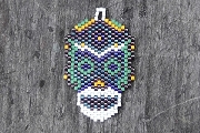 Hand Beaded Tribal Motif