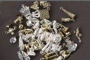 Grabbag of 25 Metal-Washed Golden Charms