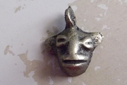 Antiqued Bronze Monkey Head Charm
