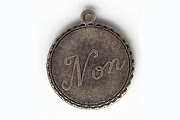 Vintage-Style Non Charm in Oxidized Brass