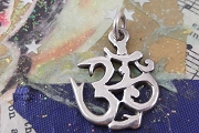 Large Sterling Silver Ohm Charm or Pendant