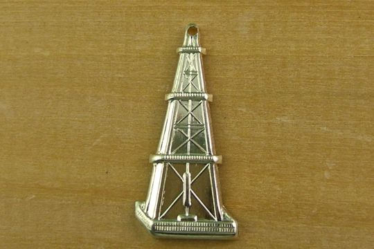 Gold Plated Oil Rig (Oil Well) Charm