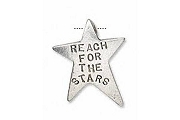 Reach for the Stars Charm - SILVERY