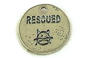 Silvery Rescued Charm Kitty Cat Drawing