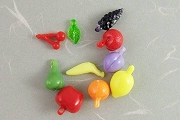 Plastic Fruit Charms Package of 10