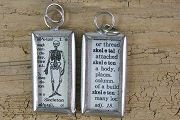 Reversible Skeleton Definition Charm or Pendant