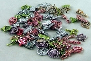 Vintage Metallic Gumball Charms - Package of 10