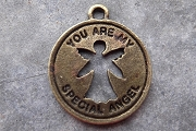 Antiqued Bronze You Are My Special Angel Charm