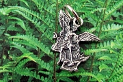 Tiny Saint Michael the Archangel Charm or Medal