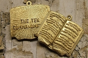 Golden Ten Commandments Charm