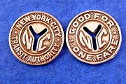 Sterling Silver New York City Transit Authority Token