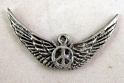 Silvery Wings of Peace Charm or Pendant