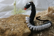 Garden Variety Black Snake (Vintage Chenille Version) with Googly Eyes