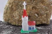 Vintage Miniature Hard Plastic Church