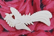 Large Stylized Hand-Carved Bone Bird Component