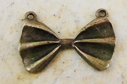 Antiqued Bronze Bow Component