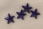 8mm Vintage Blue Plastic Star