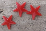 11mm Vintage Red Plastic Star