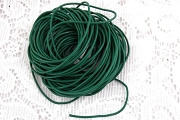 Green Leather Cord by the Inch