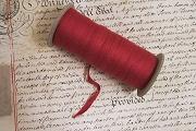 Woven Red Cotton Tying Tape for Portfolios and More - BY THE YARD