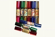 Set of 6 Colorful Christmas Crackers