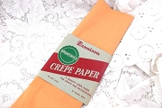 Rare Vintage Dennison Peach Crepe Paper Folds in Original Packaging