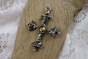 Silvery Gothic Cross Pendant
