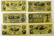 Reproduction US Civil War Union Currency - 6 Different Bills