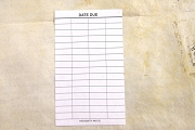 Package of 10 Ungummed Date Due Slips - Perfect for Baby Pools