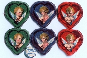VINTAGE Angels in Hearts Scraps (Set of 6)