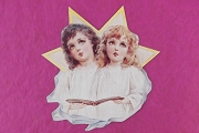 Victorian Die Cut and Embossed Die Cut - Two Angels in a Star