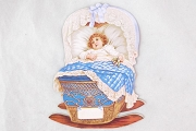 Large Die Cut - Little Baby in a Blue Cradle