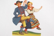 Vintage Dancers Die Cut from Sweden
