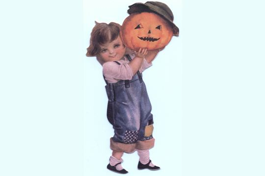 Die Cut Pumpkin Girl with Sweet Jack-o'Lantern