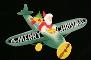 Large Die Cut Flying Santa Glittered Decoration
