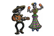 Day of the Dead Jointed Party Cut-Outs