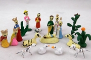 20 Piece Miniature Day of the Dead Nativity Scene
