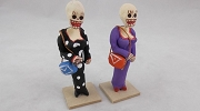 Mini Day of the Dead Figure - Woman with Purse